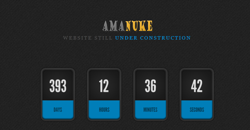 AMANUKE FREE HTML UNDER CONSTRUCTION PAGE